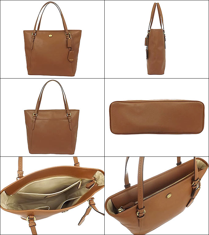 And writing coach COACH ★ reviews! Bags (tote bag) F27349 saddle Peyton leather zip top Tote outlet products cheap! Women's brand sale store SALE casual commuter 2015 YR limited price Valentine's day back