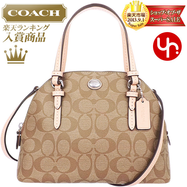 And Writing Coach Reviews Bags Handbags F32584 Khaki Tan Peyton Signature Mini E Domed Satchel Outlet Goods Women S Brand