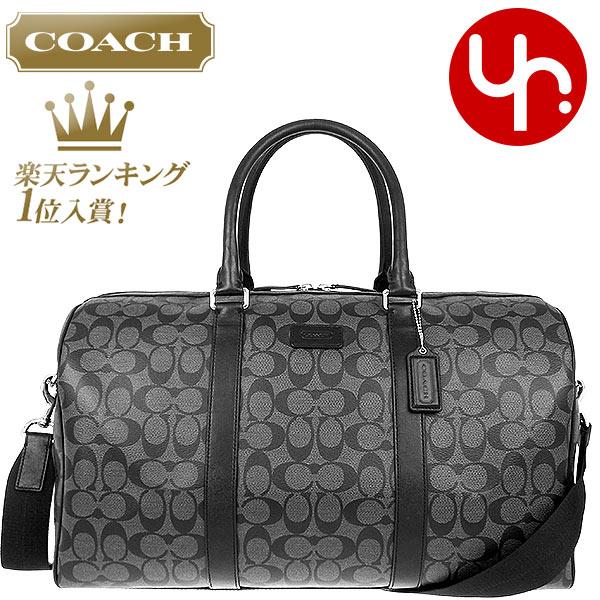 b8e789b840 COACH bag coach ☆ (Boston) F93303 charcoal x Black Heritage signature  stripe Duffle outlet products cheap! Men s women s brand sale store SALE  also travel ...