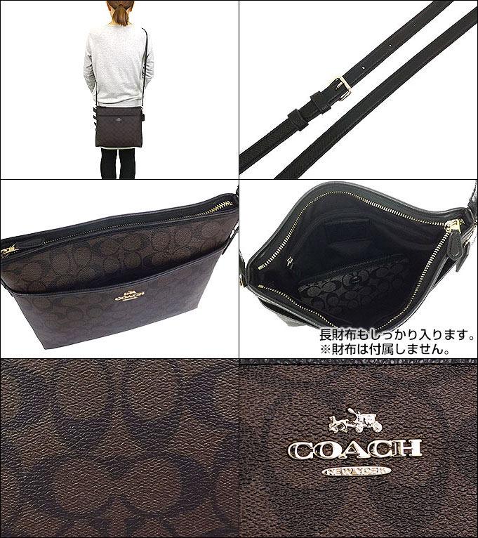 0c92e996c463 コーチ COACH☆バッグ(ショルダーバッグ)F34938 34938 ブラウン×ブラック ラグジュアリー シグネチャー ファイル バッグ  アウトレット品