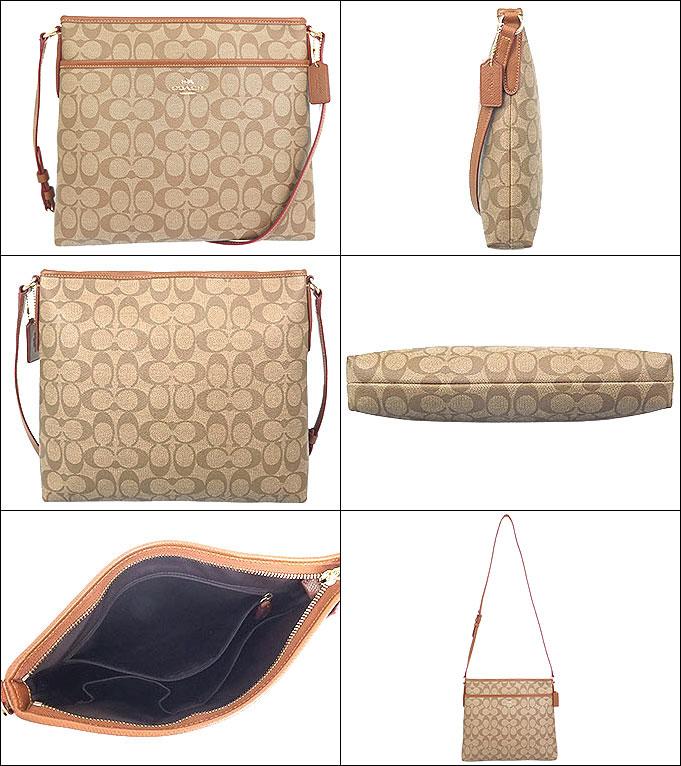 Coach Bag Shoulder F34938 34938 Khaki X Saddle Luxury Signature File Outlet Products