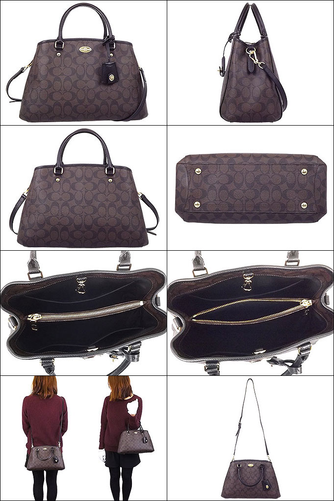 e76c927f2 Coach COACH ☆ bags (tote bag) F34608 34608 Brown x black luxury signature  small Margot carryall outlet products