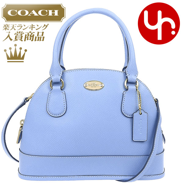 0c0eb5cf9a And writing coach COACH ☆ reviews! Cheap bags (handbags) F34090 pale blue  luxury cross-grain leather mini Coke domed satchel outlet items!