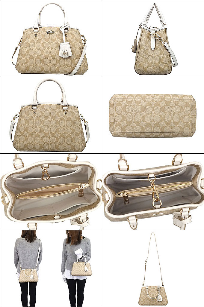 d22201cfe Coach COACH ☆ bags (tote bag) F34605 34605 light khaki / chalk luxury signature  mini Margot carryall outlet products