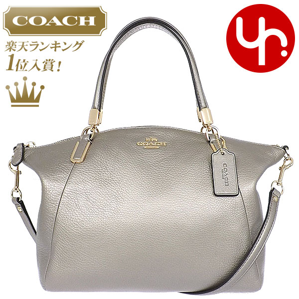 e91b44293e Coach COACH ☆ special ☆ cheap bags (handbags) F34493 metallic luxury  pebbled leather small ...