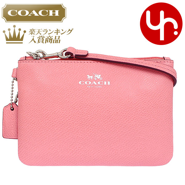 Cheap Coach COACH ☆ Accessory (pouch) F52850 Pink Luxury Cross Grain  Leather Small Wristlet Outlet Items! Ladies Sale Store SALE 2015 YR Limited  Price ...