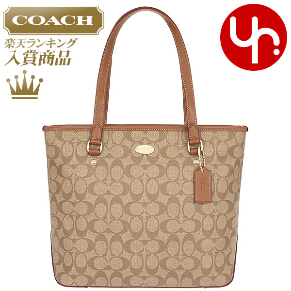 And writing coach COACH ☆ reviews! Bags (tote bag) F34603 khaki   saddle  luxury signature zip top Tote outlet products cheap! Women s brand sale  store SALE ... 61b05a69cff92