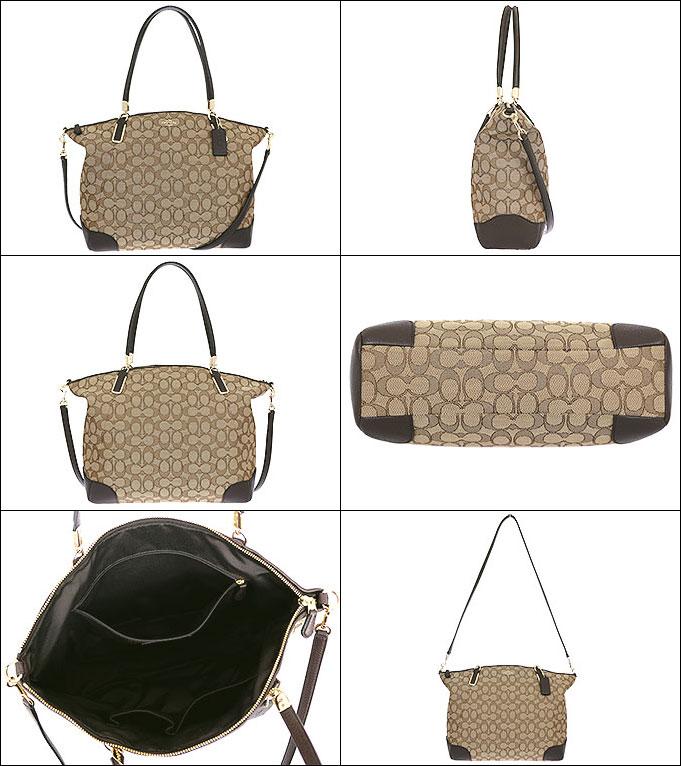朝着教练COACH包手提包F36220黄褐色×棕色特别的教练轮廓信号大量凯尔西萨切尔奥特莱斯物品非常便宜的女士名牌促销邮购SALE斜通勤圣诞节手提包