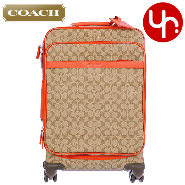 Coach Bag Carry F77611 Khaki C Signature Coated Canvas Saffiano Leather Trim 22 Inch Wheel Along Carrying Case Products At Outlet