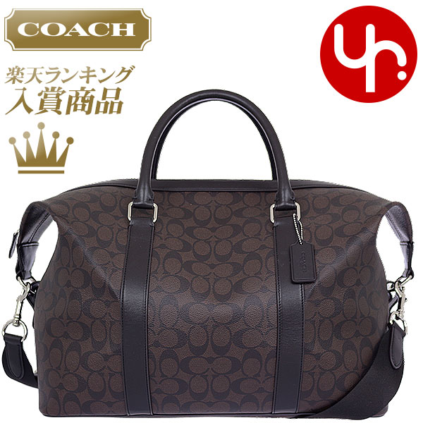 Coach COACH bag (bag) F93456 mahogany x Brown signature Explorer Duffle  outlet products cheap! Men s women s brand sale store SALE also travel 2015  YR ... 09cc7fdc5d3a2