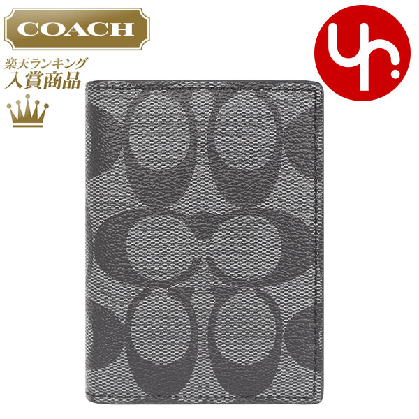 Coach COACH accessory card case review and write F75053 charcoal / black signature PVC ID case products at outlet prices cheap mens Womens brand sale store SALE 2015 YR limited price