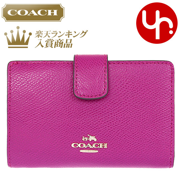 8410239f9e1897 Coach COACH purse (billfold 8cc wallet) real cheap F53436 Cranberry luxury  cross-grain leather medium corner zip wallet outlet product and write a  review!