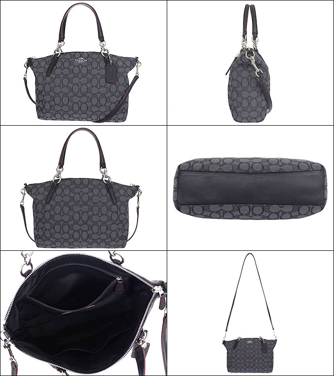 8991f8623b9a Coach COACH ☆ bags (handbags) F36625 36625 black smoke   black outline signature  small Kelsey satchel outlet products