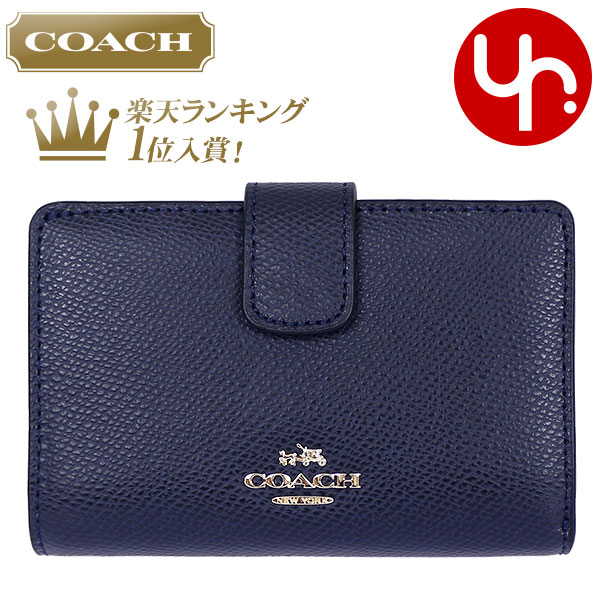 5f773173a6 Luxury F53436 midnight coach COACH purse two bi-fold wallet review and  cross-grain
