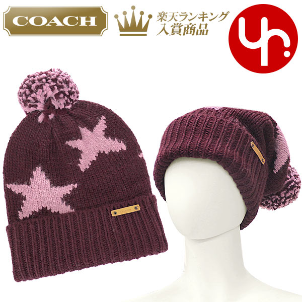 7300951208a5 コーチCOACHアパレル帽子F86023ブライトベリー×オーキッド特別送料無料コーチスターインターシャ