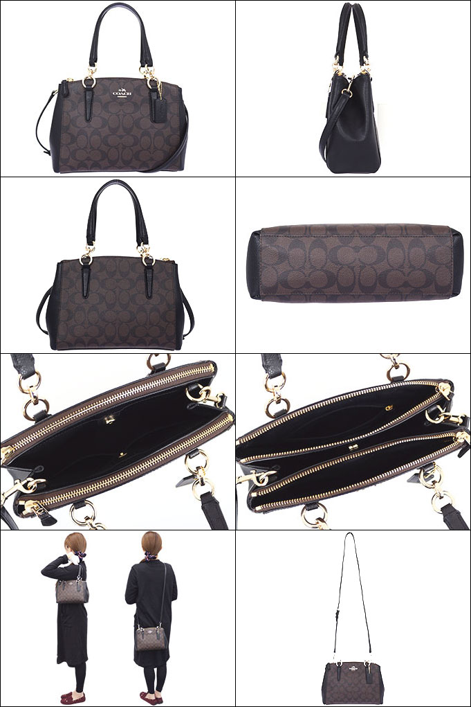 ... get coach coach bags tote bag f36718 36718 brown x black luxury  signature mini christie carryall c72b082a07ba0