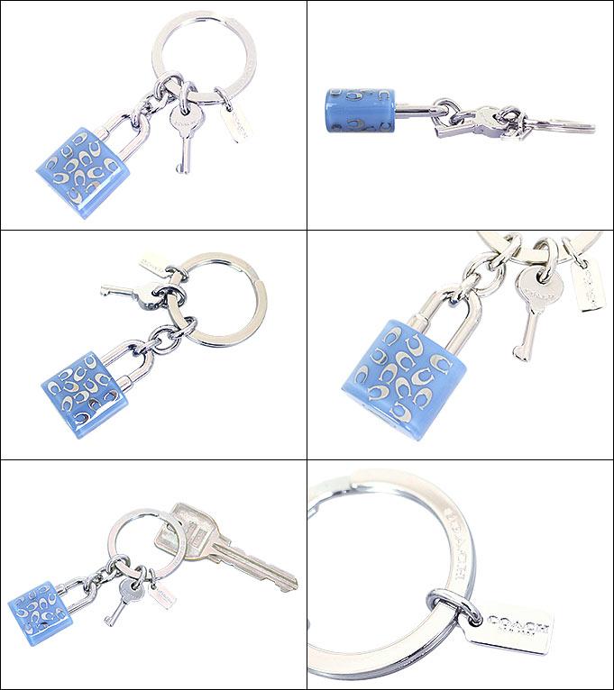 教练COACH配饰钥匙圈F63985蓝色J特别教练树脂喷淋信号锁头键迷人键出场让品非常便宜的女士名牌促销邮购SALE圣诞节钥匙圈