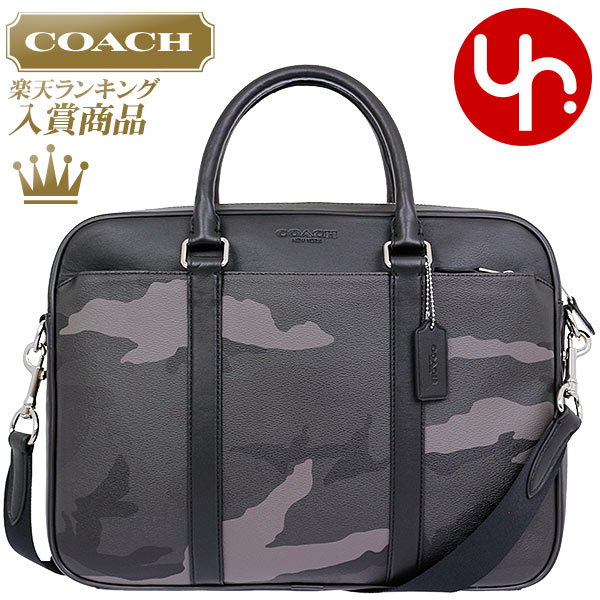 Coach Business Bags F71814 Grecamovlage Camouflage Print Pvc Slim Briefcase Products At Outlet Prices Men S Women Brand