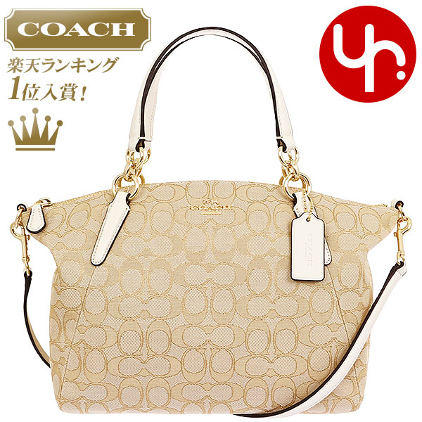 6a2fc677576a It is Christmas handbag at coach COACH bag handbag F36625 light khaki X  chalk special coach outline signature Small Kelsey Satchell outlet article  ...
