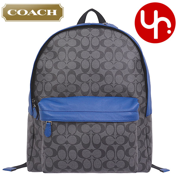 coach on sale outlet e5lh  Coach COACH bag backpack F71973 charcoal x denim coach campus signature PVC  leather backpacks outlet goods