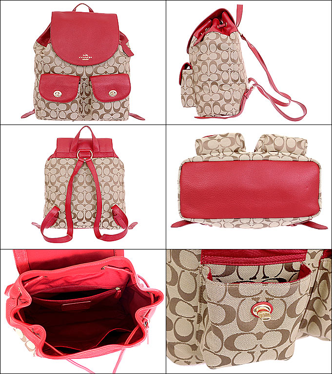 coach diaper bag outlet store ucc4  Coach COACH bag backpack F37476 khaki x classic red coach 12 CM signature  Billy backpack products