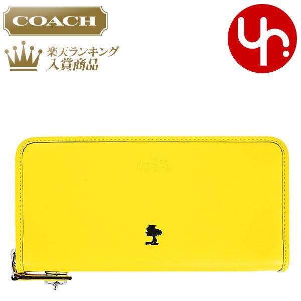 9dcd7b3d12e4 コーチCOACH財布長財布F53633イエロー特別送料無料コーチコーチ×ピーナッツコラボレザー