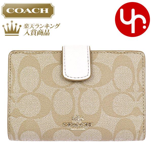 1767d6747f36 コーチCOACH財布二つ折り財布F53562ライトカーキ×チョーク特別送料無料コーチラグジュアリー