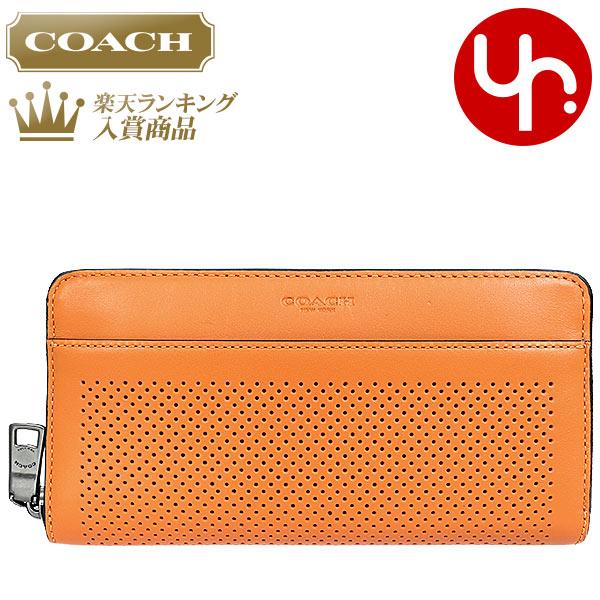 cf4fcf56424a コーチCOACH財布長財布F75222オレンジ特別送料無料コーチパフォレイテッドレザーアコーディオン