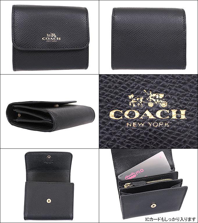 3da6708e9744 コーチCOACH財布コインケースF54843ブラック特別送料無料コーチラグジュアリークロスグレーンレザーアコーディオン