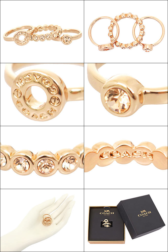 dc63cd3a6019 コーチCOACHアクセサリー指輪F56418ローズゴールド特別送料無料コーチオープンサークルリングセット(