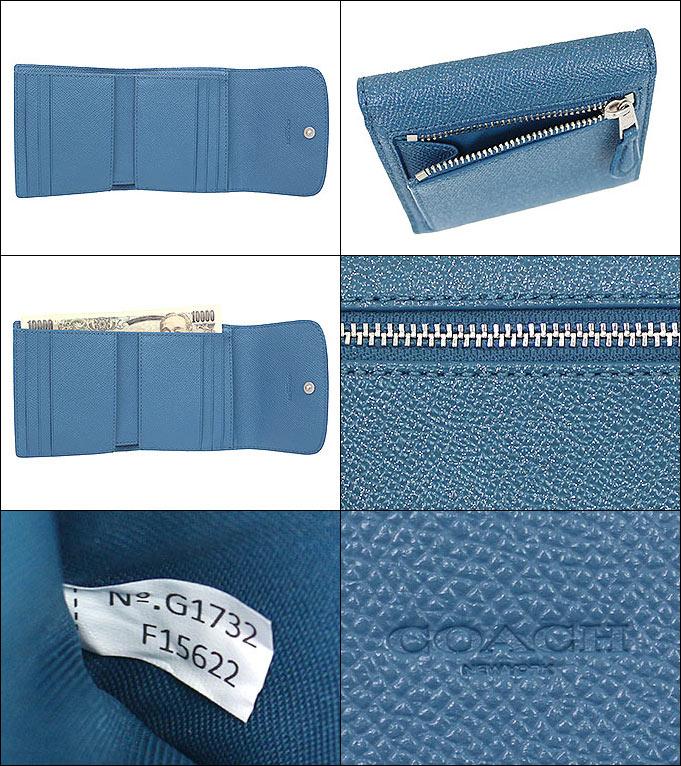 6f60bd69353e コーチCOACH財布三つ折り財布F15622ダークティール特別送料無料コーチラグジュアリーグリッタークロス