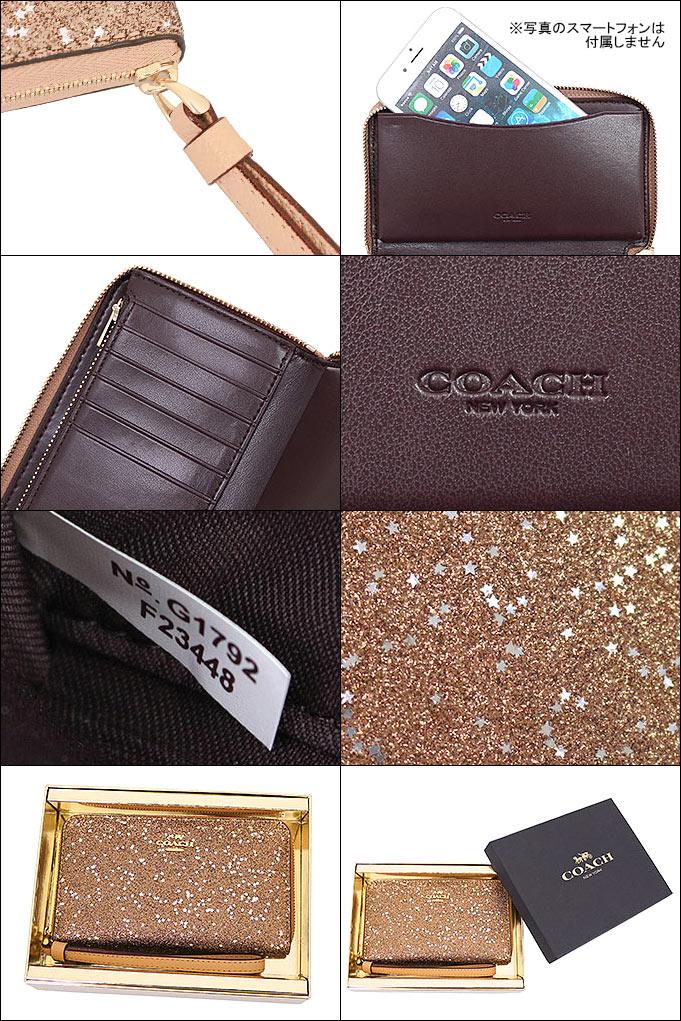 fa59ab0cbd2c コーチCOACH財布二つ折り財布F23448ゴールド特別送料無料コーチスターグリッターメタリックフォン