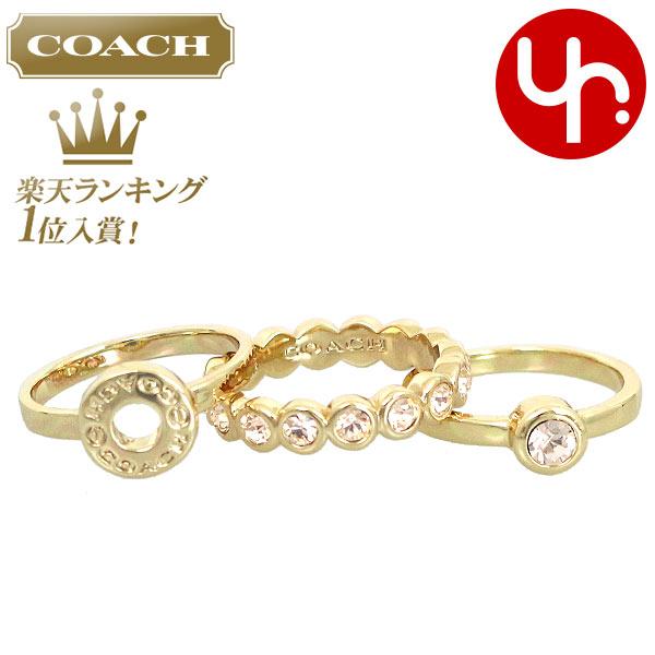 a0bd7e1d0b9b コーチCOACHアクセサリー指輪F56418ゴールド特別送料無料コーチオープンサークルリングセット(