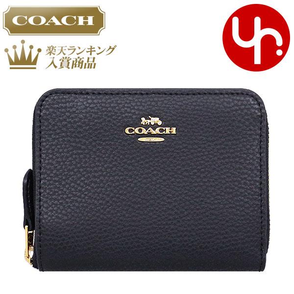 2ba7575ce600 コーチCOACH財布二つ折り財布F24808ブラック特別送料無料コーチラグジュアリーペブルドレザー