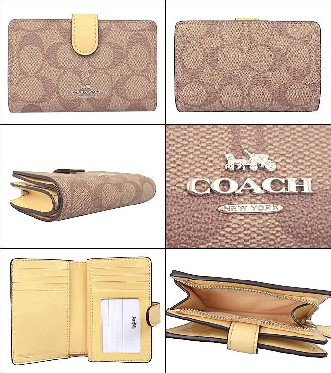 c0eae56156f9 ジップ ミディアム ウォレット 二つ折り財布 財布 L型 アウトレット品激安 COACH レザー F23553 あす