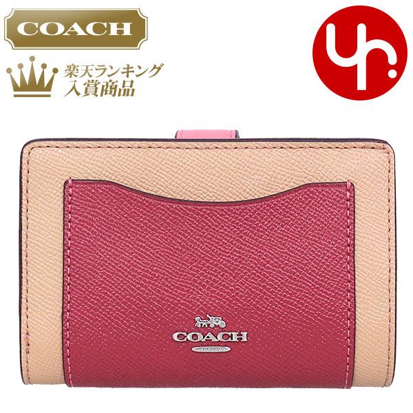 20afece10137 コーチCOACH財布二つ折り財布F29939ピンクマルチ特別送料無料コーチマルチカラーブロック