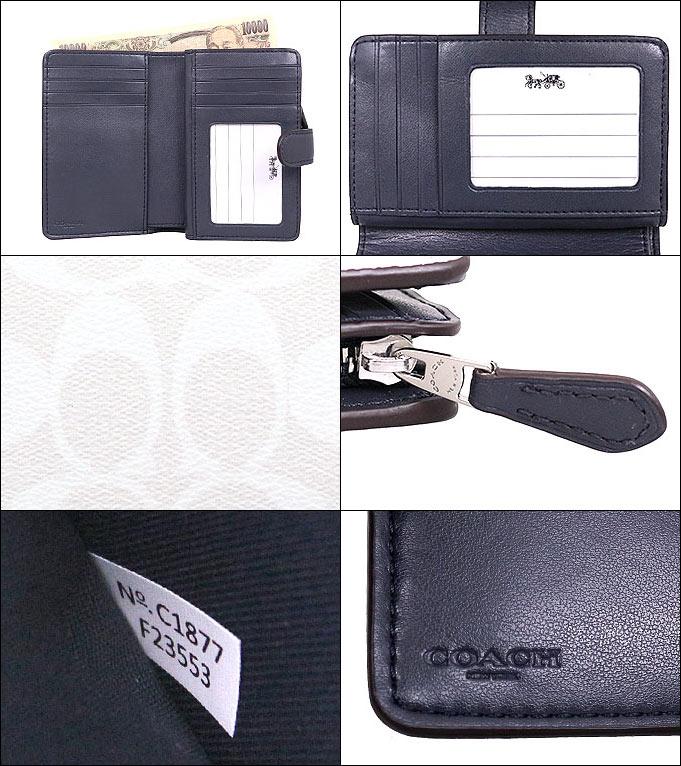 7aafe0db64c7 コーチCOACH財布二つ折り財布F23553チョーク×ミッドナイト特別送料無料コーチラグジュアリーシグネチャー