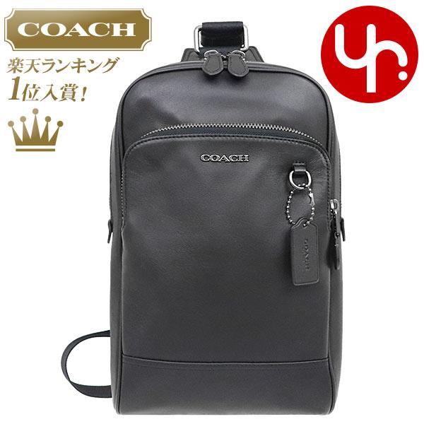 コーチ COACH バッグ ショルダーバッグ F89934 ブラック 特別送料無料 グラハム スムース レザー スリング パック ボディー バッグ アウトレット品メンズ レディース ブランド 通販 斜めがけ 2020 母の日 あす楽