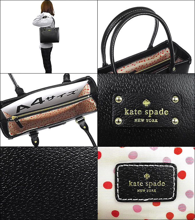 And Writing A Kate Spade Review Bags Tote Bag Wkr1428 Black Quinn Wellesley Square Leather Outlet Products