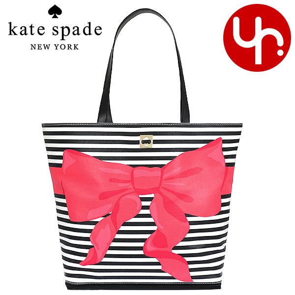 Kate spade kate spade bags (tote bag) special WKRU3184 black white x pink  poplar ... f8f289c453