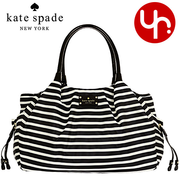 Kate Spade Bags Handbags Pxru3369 Black Cream 2 Stevie Baby Bag Nylon Stripe Outlet Products