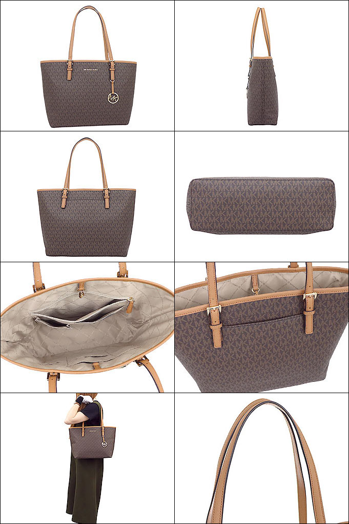 Michael Kors MICHAEL KORS bag tote bag 35H8GTVT2B brown X ray corn special jet set travel signature medium carry oar Thoth outlet product Lady's brand
