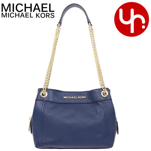 Michael Kors MICHAEL KORS bag shoulder bag 35T9GTTM6L navy special jet set item leather medium chain messenger outlet article Lady's brand mail order