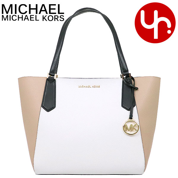 Michael Kors MICHAEL KORS bag tote bag 35T9GKFT7T bisque X black special Kimberly leather large Bonn dead Thoth outlet product Lady's brand mail order