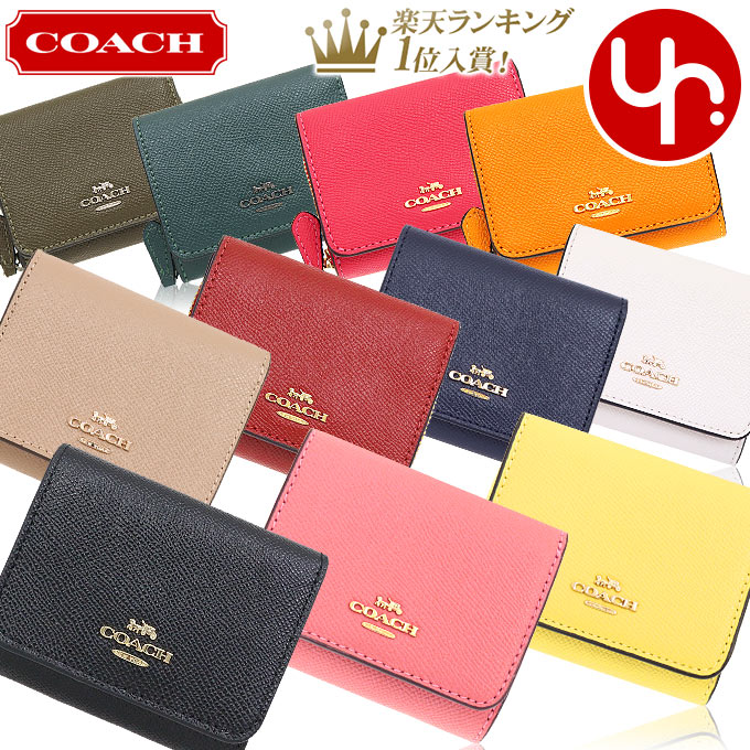 レディース コーチ COACH Tan Rust 【Colorblock Zip Around Leather & Coated Canvas Wallet】 財布