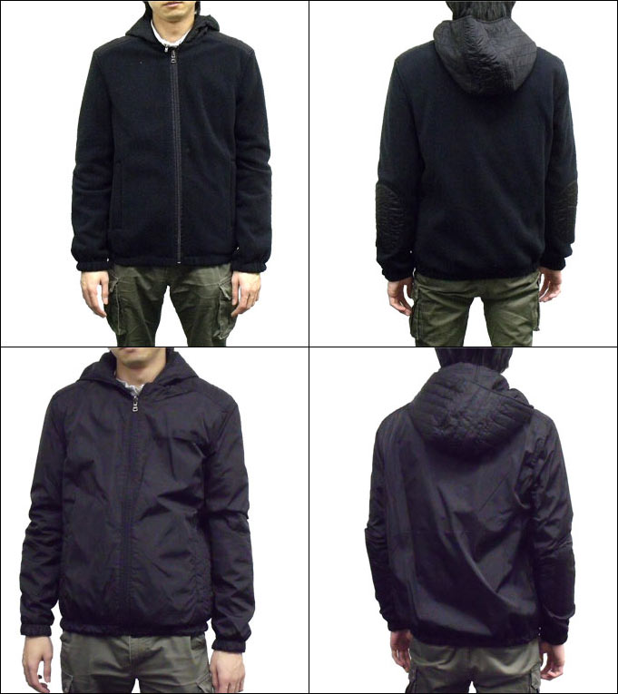 Prada sport PRADA SPORTS ★ apparel (outer) SIC278 black ナイロンフリースパーカー (S)  discount % Men's