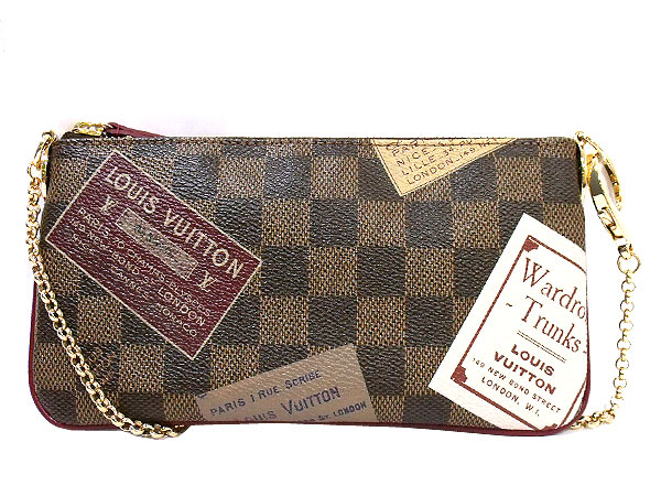 49ff719ea3b Louis Vuitton LOUIS VUITTON ☆ bag (pouch) N63080 label collection ポシェットミラ  MM Damier real cheap! Ladies ☆ back