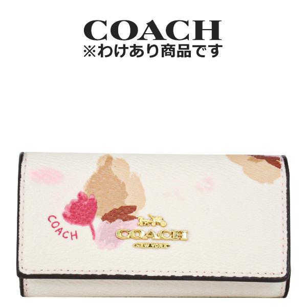 コーチ COACH レディース 小物 キーケース F65522 LIF2N(チョーク×フィールドフローラル 花柄)【FKS】