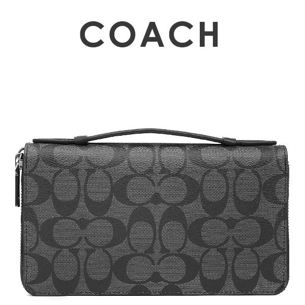 コーチ COACH COACH メンズ オーガナイザー セカンドバッグ ポーチ メンズ 財布 F93504 CQ F93504/BK(チャコール×ブラック), Oriental Select Shop マリマリ:94eba9dc --- 2017.goldenesbrett.net