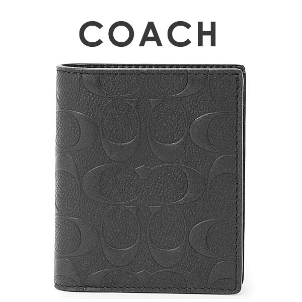 コーチ COACH メンズ 二つ折り財布 F11970 BLK(ブラック)